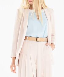 Cream tailored blazer
