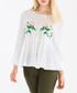 White floral print peplum blouse Sale - paisie Sale