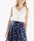 White frill wrap front blouse Sale - paisie Sale