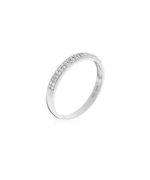 Justesse white gold-plated ring