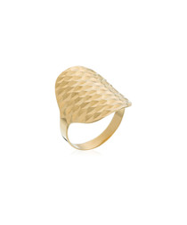 Armadillo yellow gold-plated ring