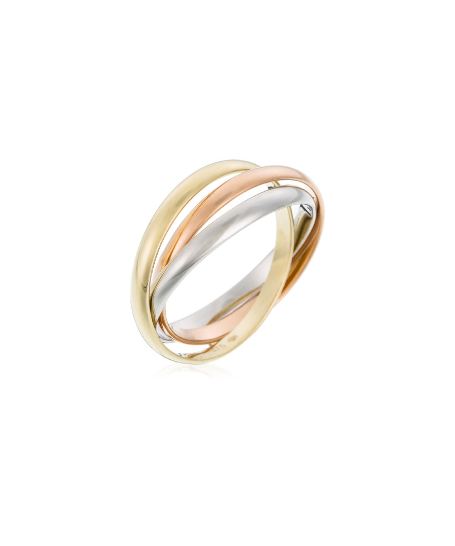 Tri gold-plated layer ring Sale - or eclat