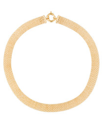 Maille gold-plated strip necklace