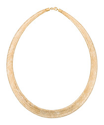 Oh My gold-plated arc necklace