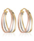 Orion gold-plated tri-hoop earrings Sale - or eclat Sale