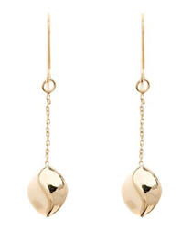 Cacao gold-plated drop earrings