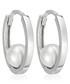 Cerceau white gold-plated hoop earring Sale - le diamantaire Sale