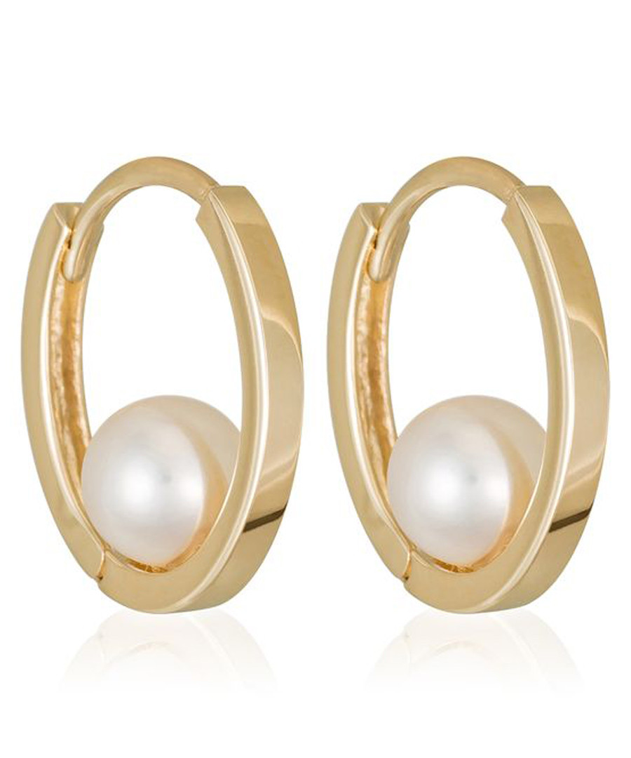 Cerceau gold-plated hoop earrings Sale - or eclat