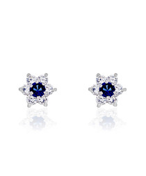 Le Messager white gold-plated earring