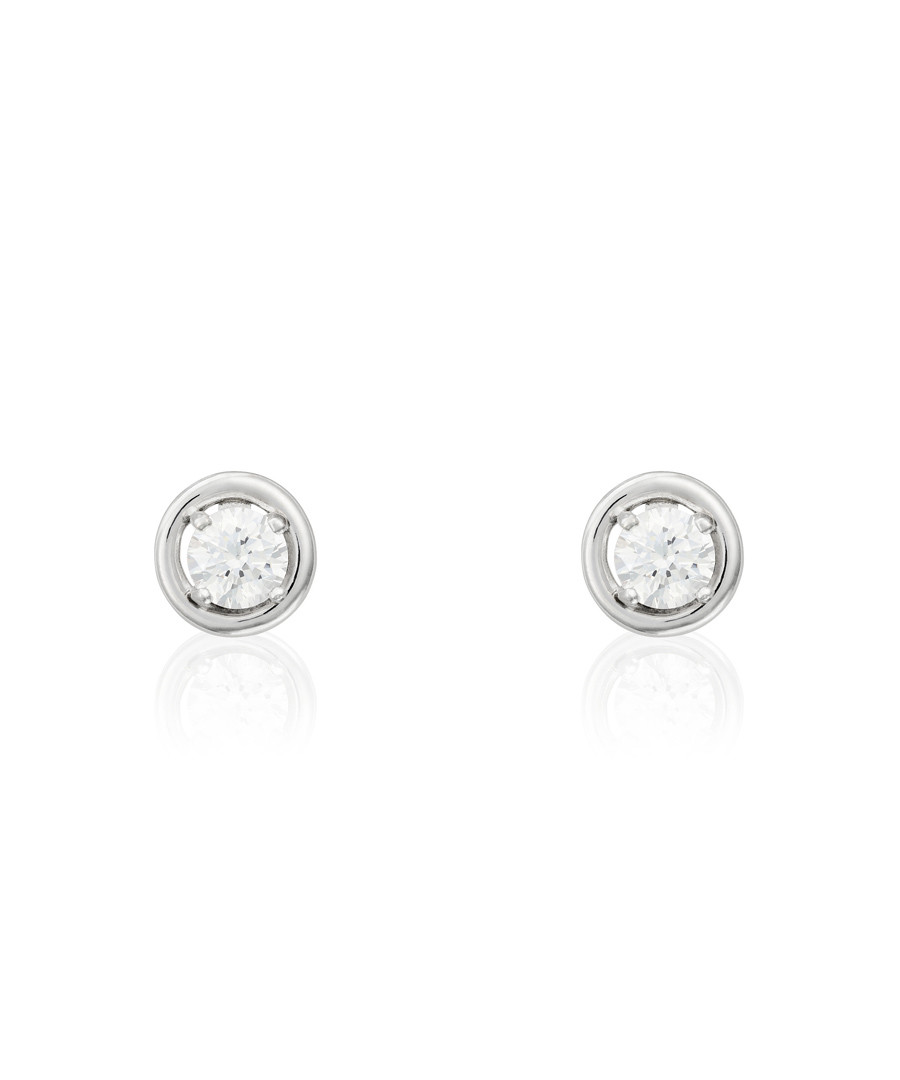 Precious white gold-plated earring Sale - or eclat