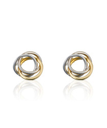 Croisade gold-plated knot earrings