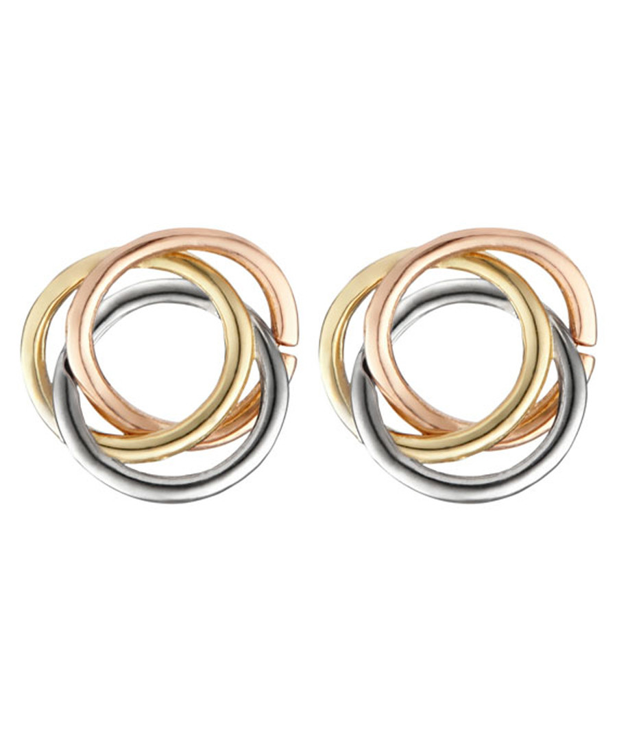 Croisade gold-plated tri-knot earrings Sale - or eclat