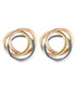 Croisade gold-plated tri-knot earrings Sale - or eclat Sale