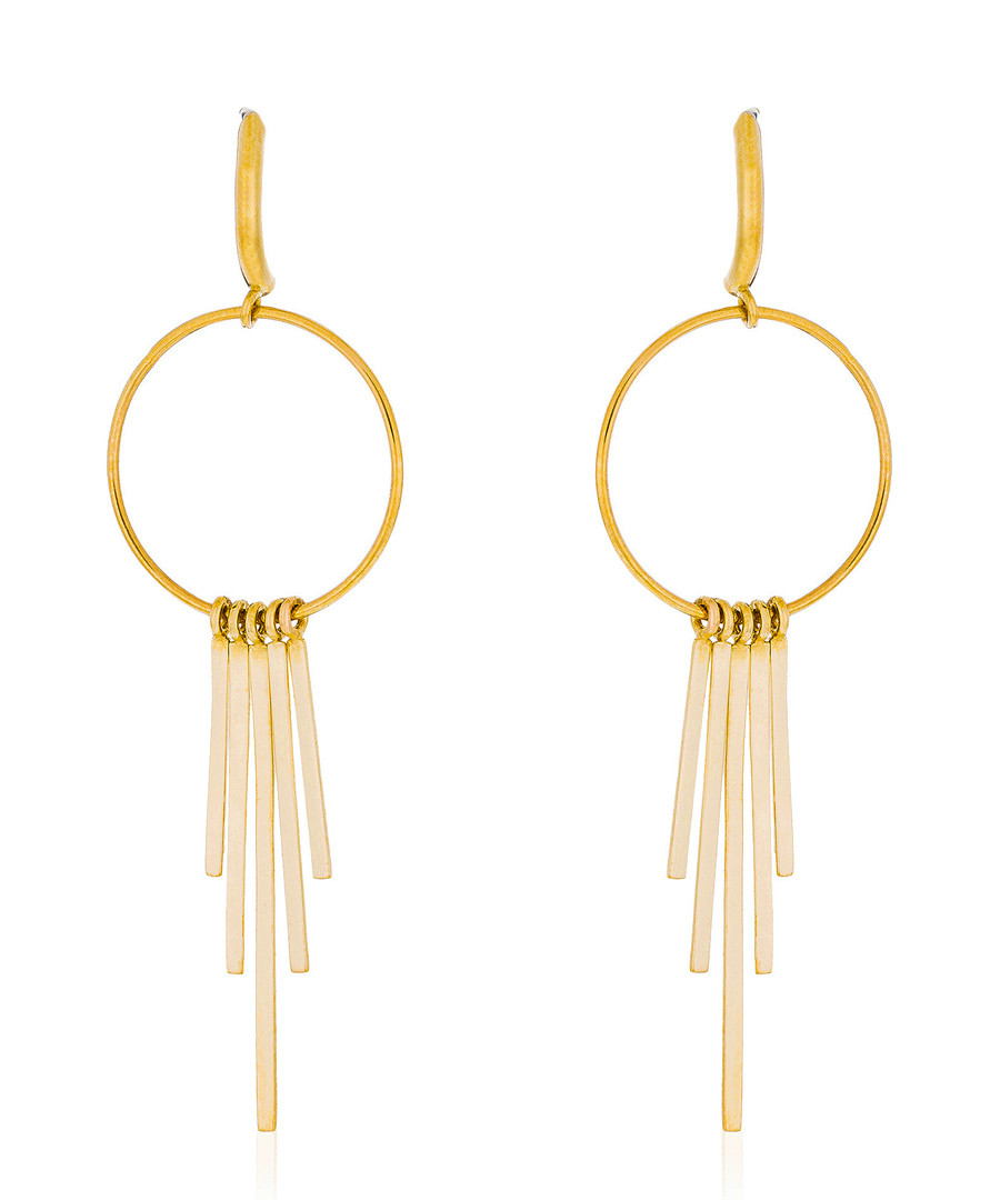 Voilage gold-plated shower earrings Sale - or eclat