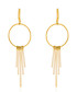 Voilage gold-plated shower earrings Sale - or eclat Sale