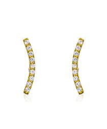 merveille gold-plated earrings