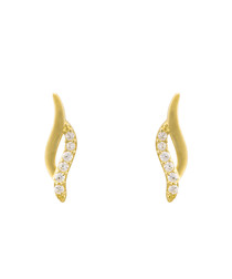 Ondes magiques gold-plated earrings