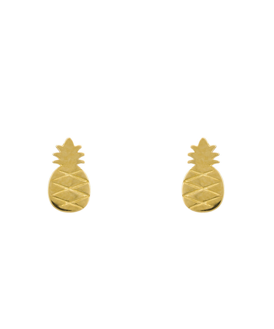 Ananas gold-plated pineapple earrings Sale - or eclat