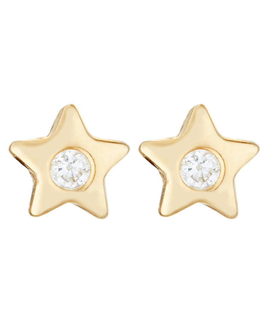 Etoile gold-plated star earrings Sale - or eclat