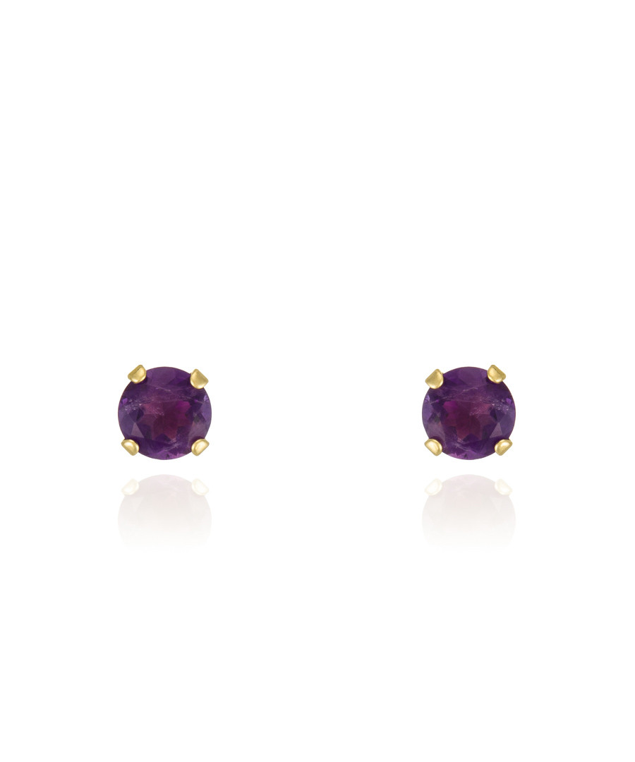 Ravisse amethyst & gold-plate earrings Sale - or eclat