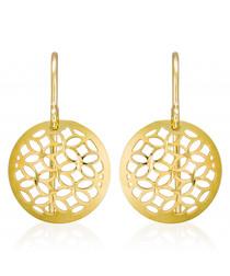 Dandelion gold-plated disc earrings
