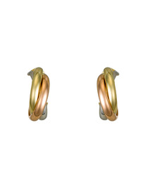 Creoles gold-plated twist earrings