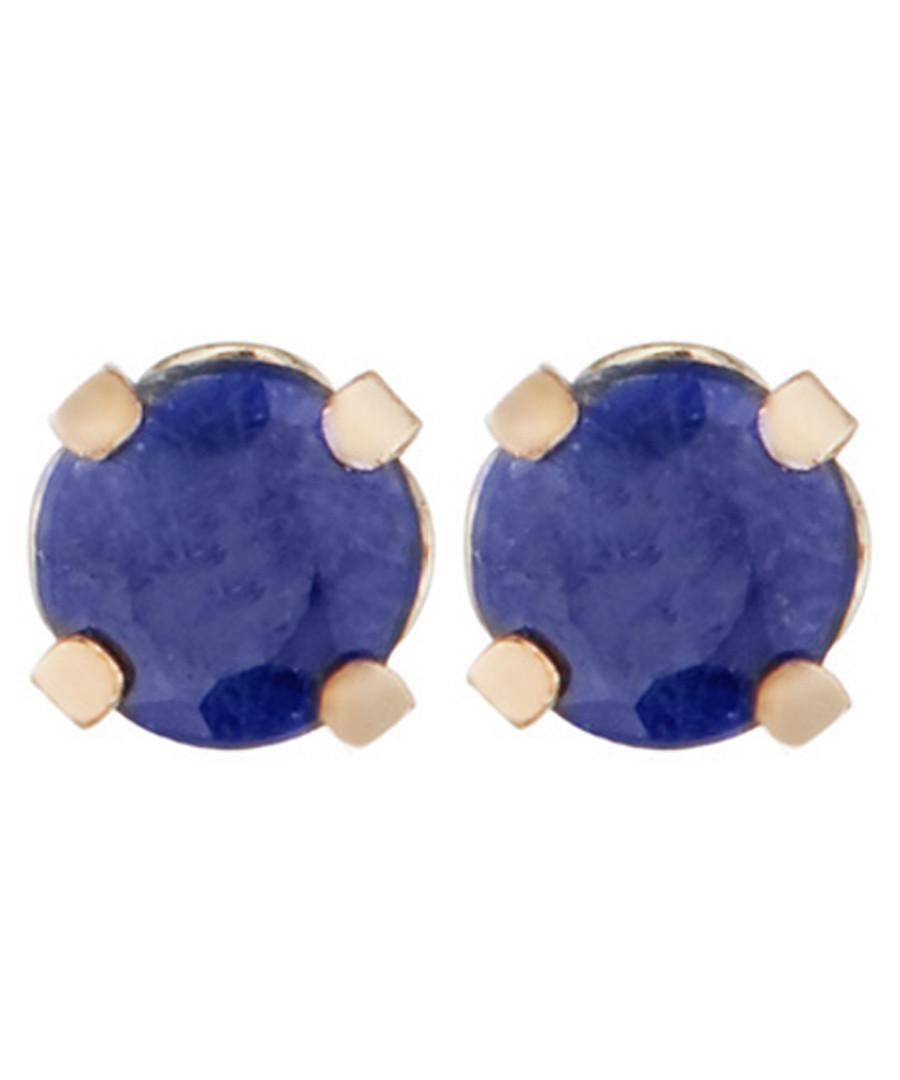 sapphire & gold-plate earrings Sale - or eclat
