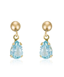 topaz & gold-plate earrings