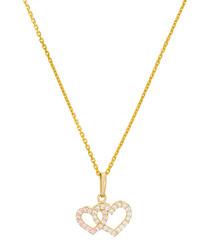 Ti Amo gold-plated hearts pendant