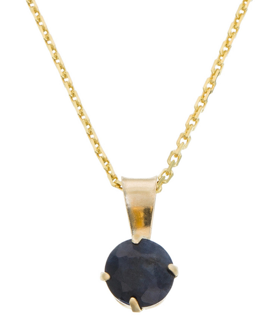 0.7ct sapphire & gold-plate pendant Sale - or eclat