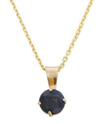 0.7ct sapphire & gold-plate pendant