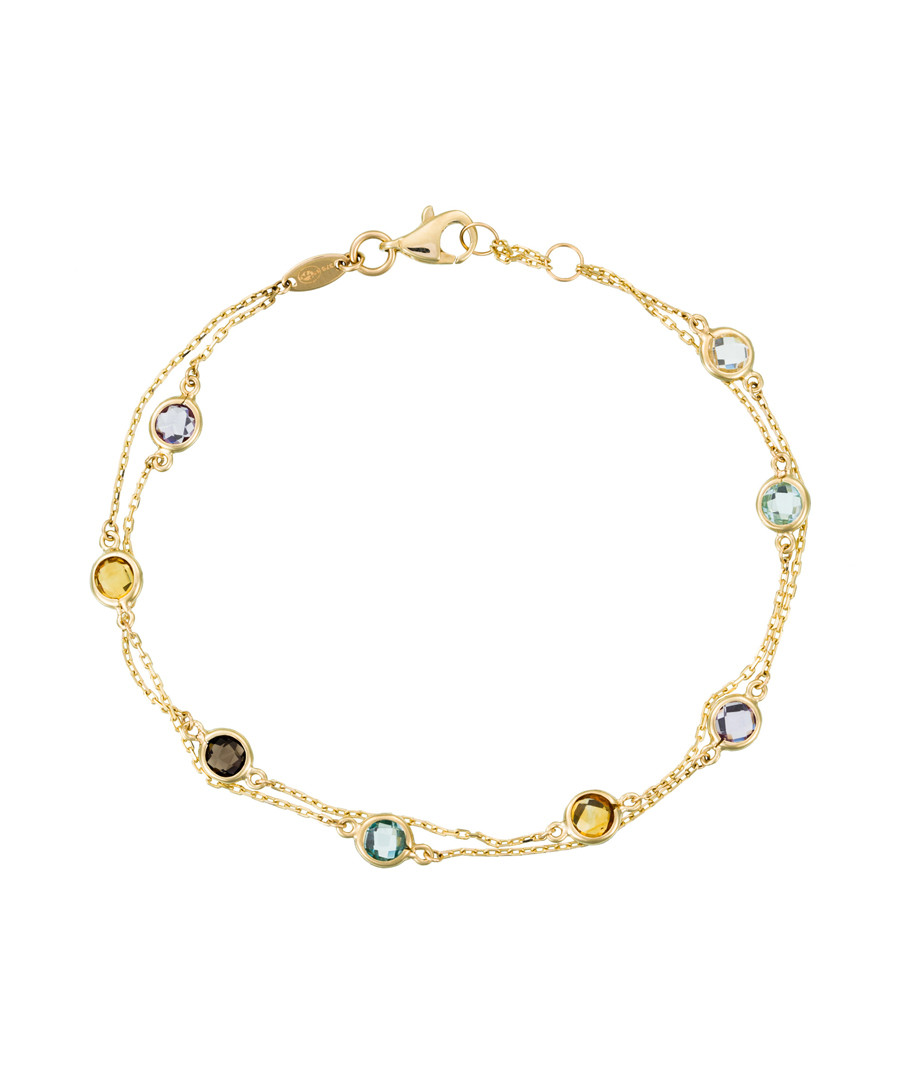 Stone mix gold-plated chain bracelet Sale - or eclat