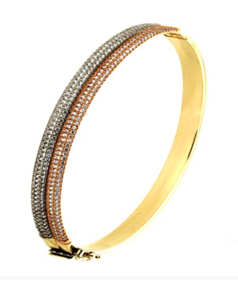 Jonc gold-plated duo bangle Sale - or eclat