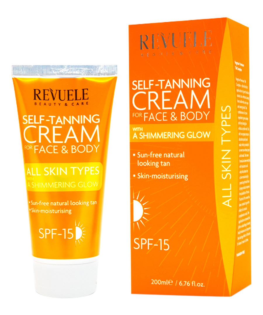 Self-tanning face & body shimmer cream Sale - revuele