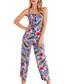 blue floral button down jumpsuit Sale - iska Sale