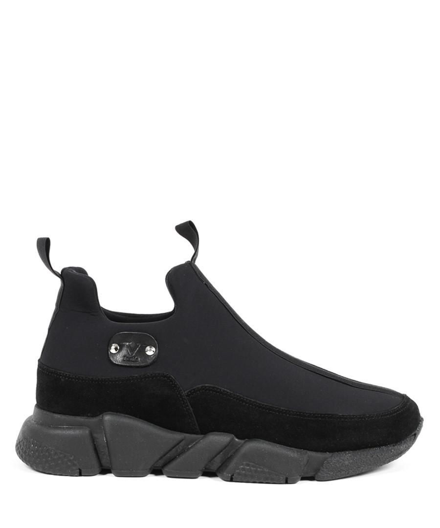 Black suede & tech sneakers Sale - v italia by versace 1969 abbigliamento sportivo srl milano italia