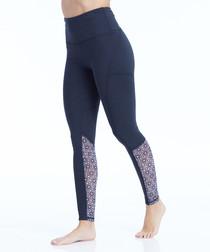 natasha navy patch leggings