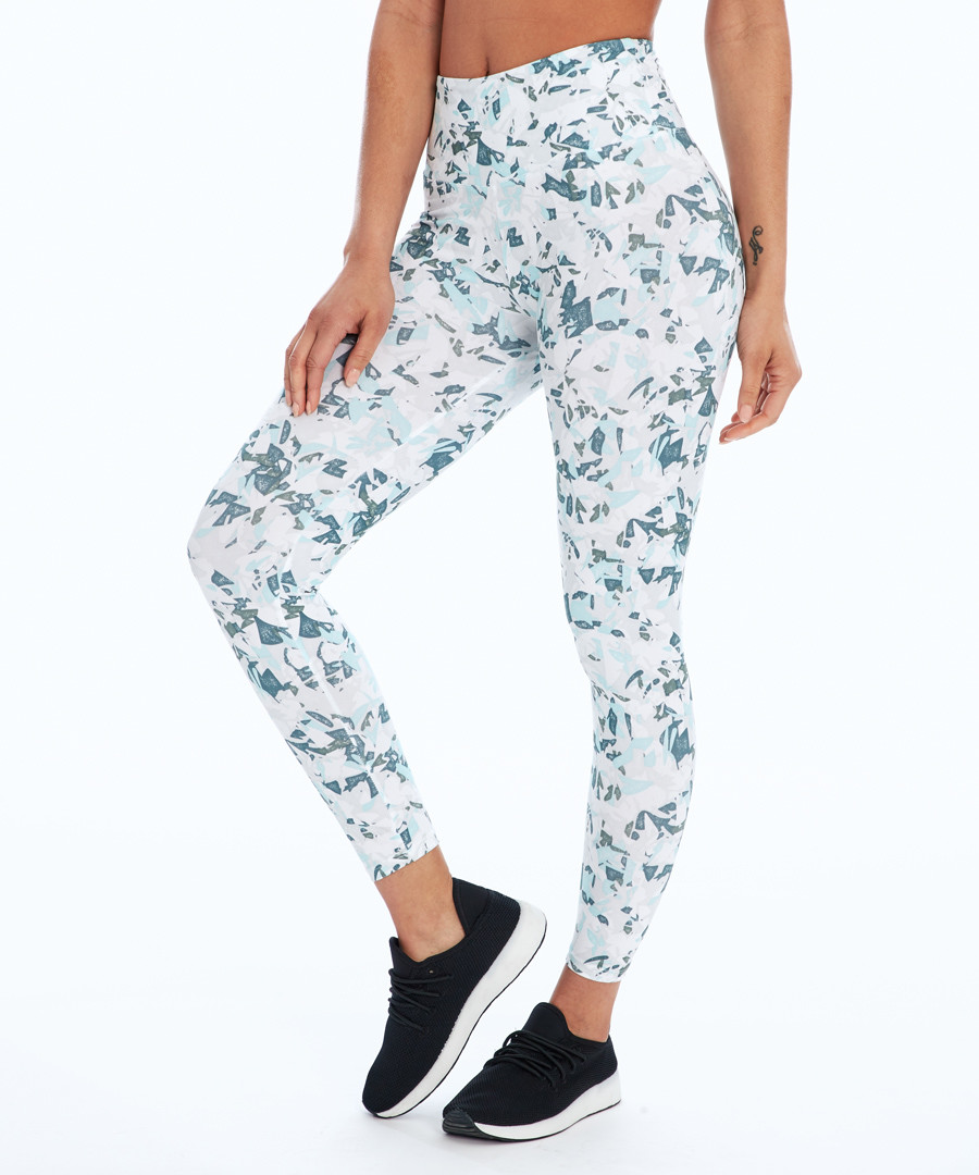 grey & aqua print leggings Sale - balance collection