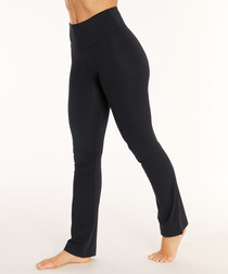 barely flare black trousers