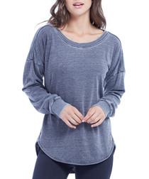 leanne pewter cotton blend jumper