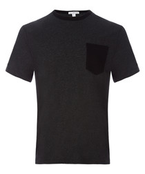 Anthracite pure cotton T-shirt