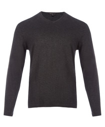 Heather charcoal pure cotton sweatshirt