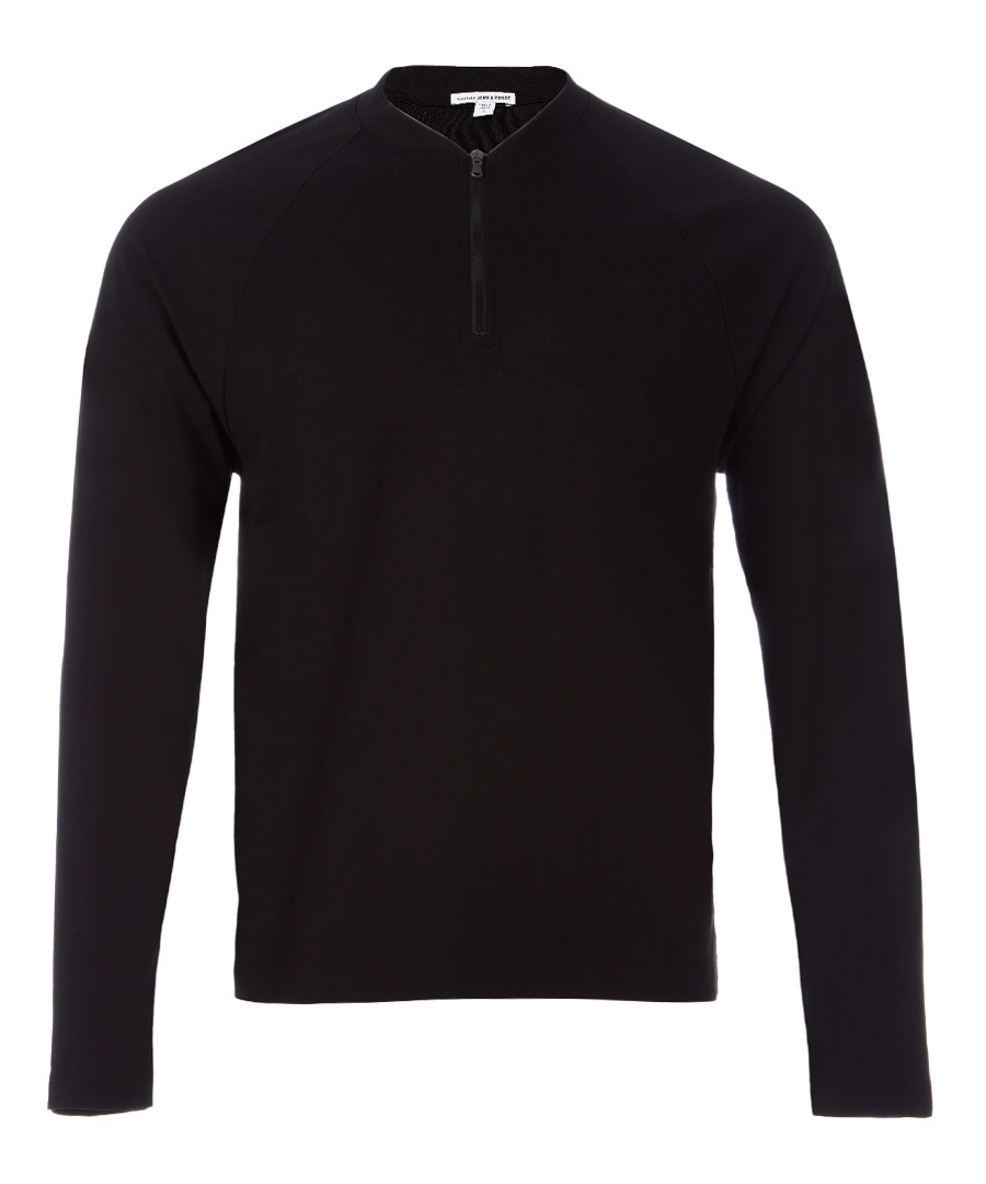 Black pure cotton sweatshirt Sale - James Perse
