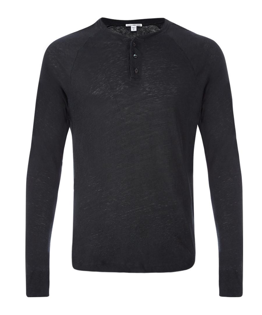 Carbon linen & cotton blend sweatshirt Sale - James Perse