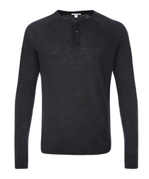 Carbon linen & cotton blend sweatshirt