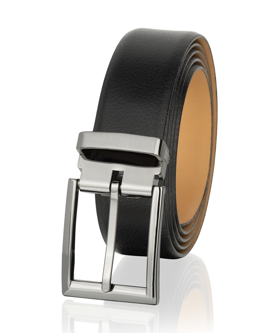 Black leather classic belt Sale - woodland leather