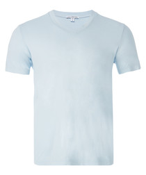 Baby blue pure cotton T-shirt