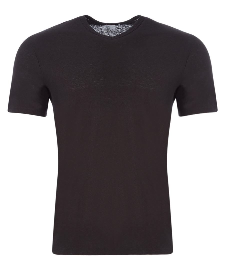 Carbon cotton & linen T-shirt Sale - James Perse