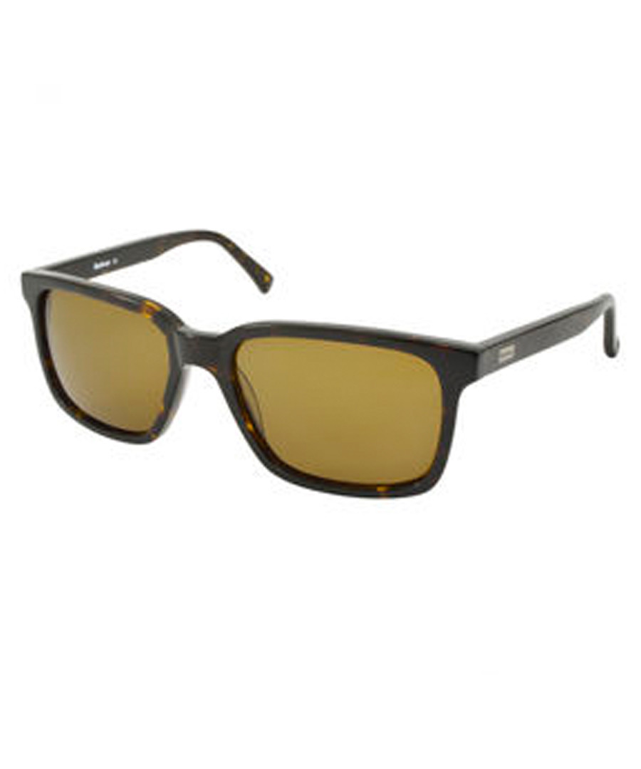 Havana squared D-frame sunglasses Sale - barbour