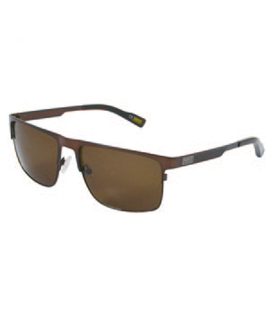 brown metal squared sunglasses Sale - barbour
